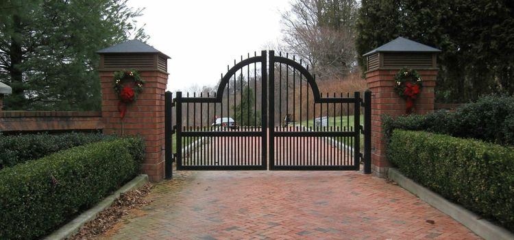 Full iron electric automatic driveway gate