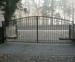 Security gate for gated community installed by Tri State Gate, New York