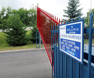 New security entrance gate for self-storage facility