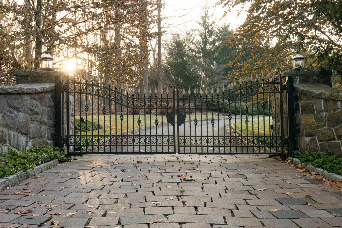 Custom designed driveway gates tri state gate for Motorized gates for driveways