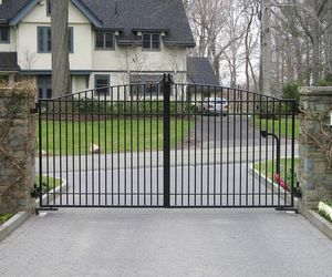 Automated iron security gate for a gated community in New York, by Tri State Gate