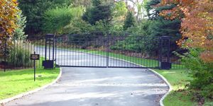 Little automated iron security gate residential gated community new york