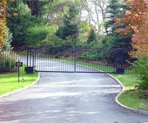 Automated security gates for a gated neighborhood in New York, by Tri State Gate