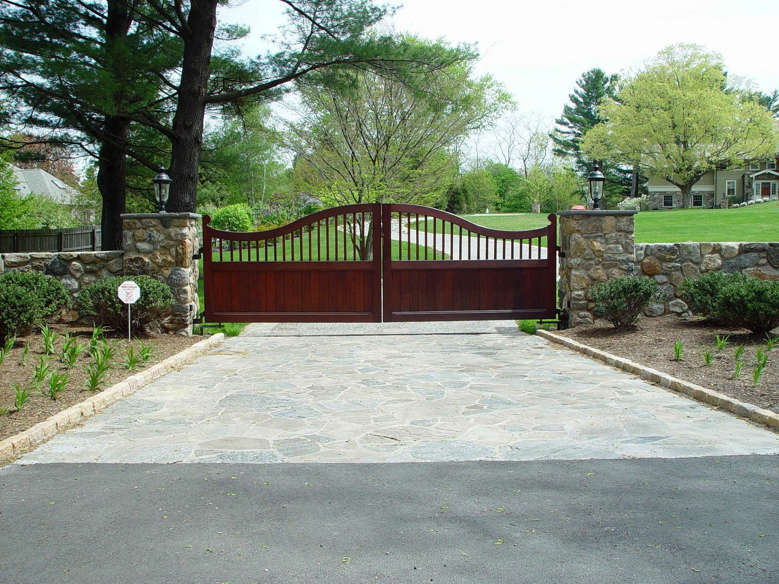 Wooden driveway gates tri state gate for Motorized gates for driveways